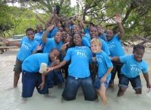 School group at maiden island